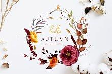 Hello autumn - watercolor collection