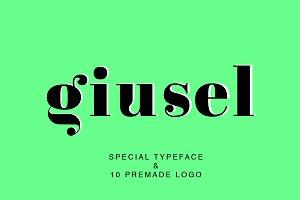 GIUSEL FASHIONABLE FONT & 10 LOGO