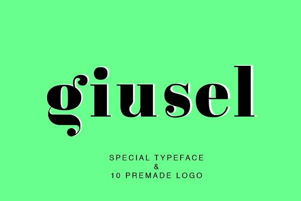 Logo Templates: IsikChic - GIUSEL FASHIONABLE FONT & 10 LOGO