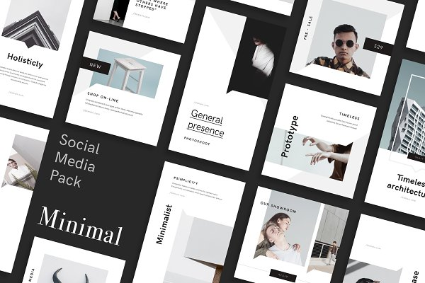 Minimal Canva Social Media Pack