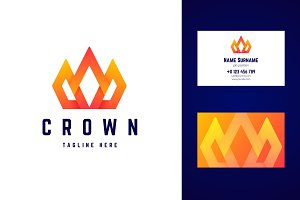 Crown logo and business card