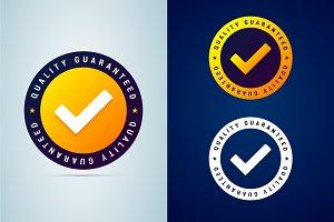 Quality guaranteed badge
