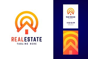 Real estate logo and business card