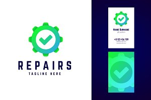 Repairs logo and business card