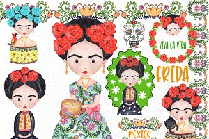 Frida Kahlo Clipart Mexican clipart