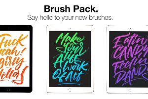 Procreate Lettering Brush Pack!
