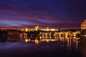 Prague castle and the Charles bridge