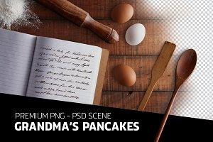 Grandma's pancakes - PSD file