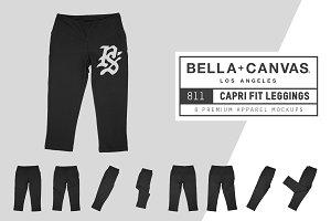 Bella Canvas 811 Capri Fit Leggings