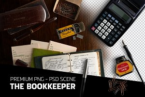 The bookkeeper desk - PSD file