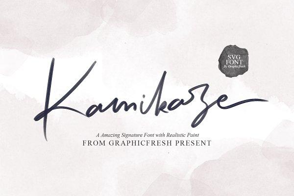Script Fonts: Graphicfresh - Kamikaze SVG Font