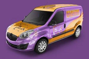 Photorealistic PSD Cargo Car Mock-up