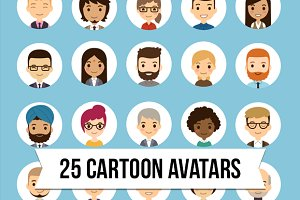 Cartoon vector avatars