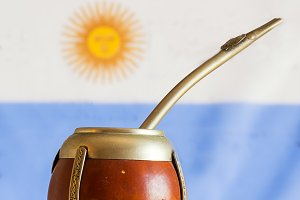 mate, mate grass (yerba mate) with f