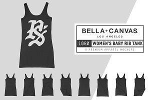 Bella Canvas 1080 Women's Rib Tank