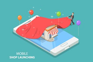 Mobile store app launch
