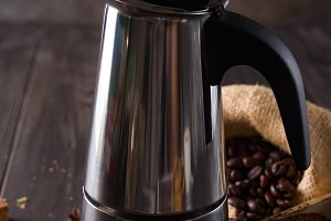 geyser coffee maker on the