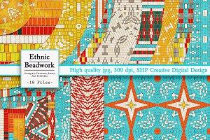 Ethnic Bead & Basket Patterns 1