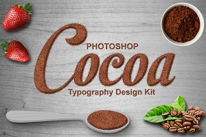 Cocoa Text Effect Photoshop Action