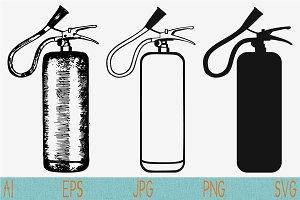 fire extinguisher svg set vector png