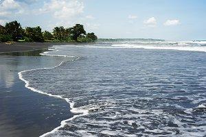 Black sand beach. Bali, Indonesia