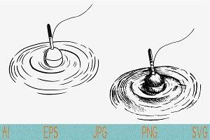 Fishing float svg set vector png eps