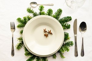 Festive Christmas and New Year table