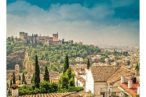 cityscape of Granada, Spain