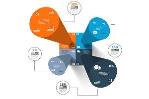 Modern 3d infographics