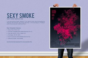 Sexy Smoke Party Flyer