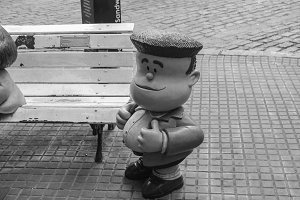 Mafalda Character in Buenos Aires