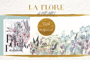 Flora vector backgrounds