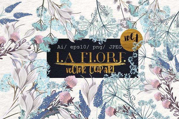 Flora vector floral clipart