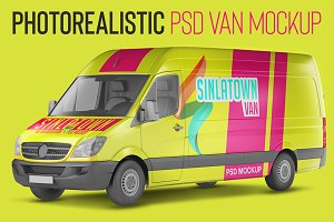 Transporter Van PSD Mockup