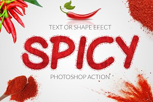Spicy Text Effect Photoshop Action