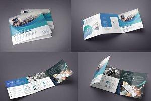 Gradient Square Tri-Fold Brochure