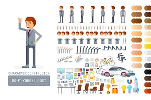 Man in suit design kit