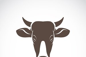 Vector of a cow head. Wild Animals.