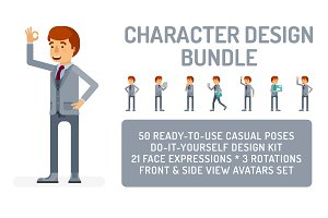 Man in suit design bundle
