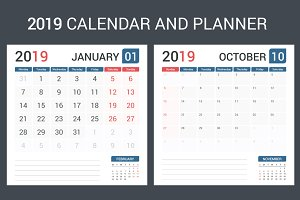 2019 Calendar and Planner