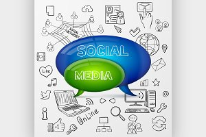 speech bubble social media design
