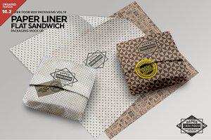 Flat Sandwich Paper Liner Mockup