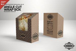 Angle Cut Sandwich Wrap Box Mockup
