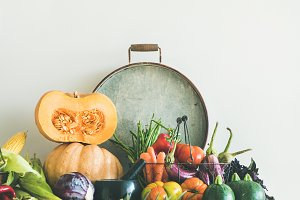 Fall seasonal vegetarian food