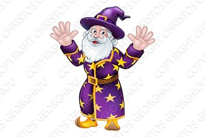 Wizard Cartoon Character Mascot