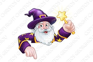Wizard Cartoon Character Ponting