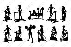 Gym Fitness Equipment Woman