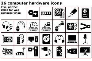 Glyph computer hardware icons