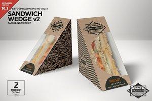 Sandwich Wedge Box v2 Mockup