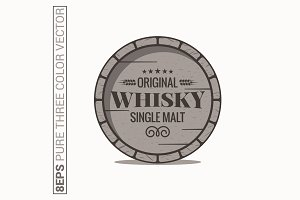 Whisky barrel logo.
